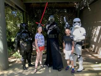 Kylo Ren at Sacramento Zoo Star Wars Day