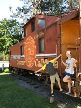 Railcar in Dunsmuir California