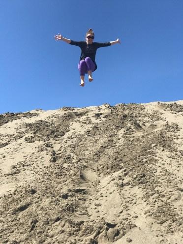 Exploring the Sand Dunes Near Fort Bragg