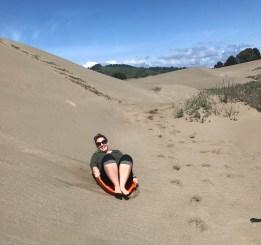 Sand Sledding at MacKerricher State Park