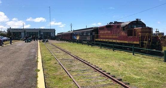 Skunk Train Depot In Fort Bragg, California