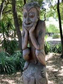 The Thinker Sculpture at the Stanford Papua New Guinea Sculpture Garden