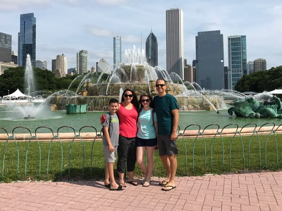 The Bourn Family Visiting Buckingham Fountain