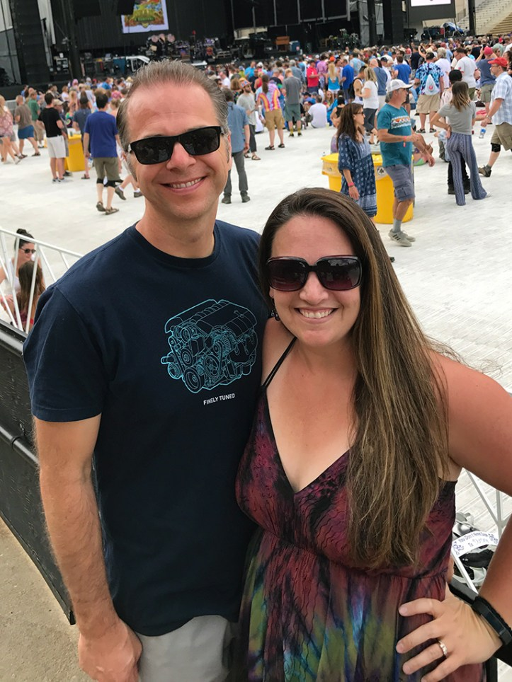Brian and Jennifer Bourn at Dead & Company's Boulder Night Two Concert at Folsom Field