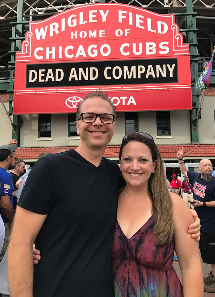 Brian and Jennifer Bourn at Dead & Company Concert at Wrigley Field 2017