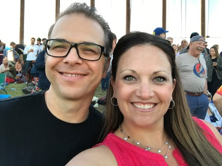 Brian and Jennifer Bourn at Dead & Company concert at Shoreline Amphitheater on June 3