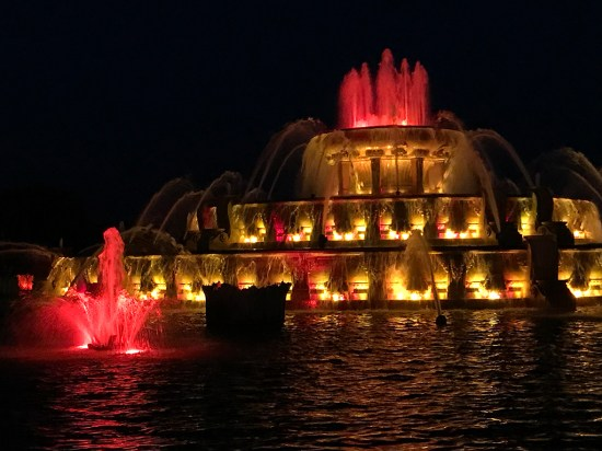 Buckingham Fountain was inspired by the Latona Fountain at Versailles