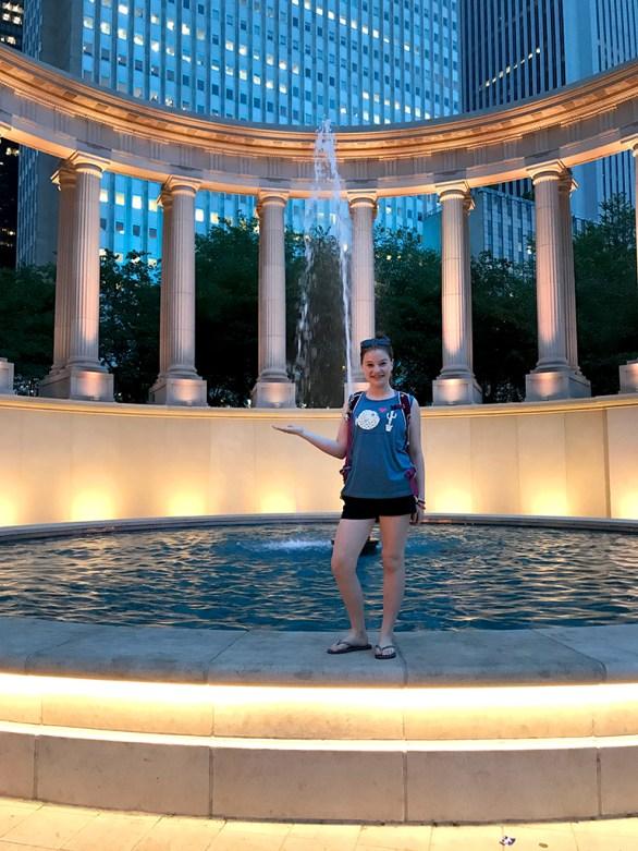 Natalie Bourn at Millennium Monument