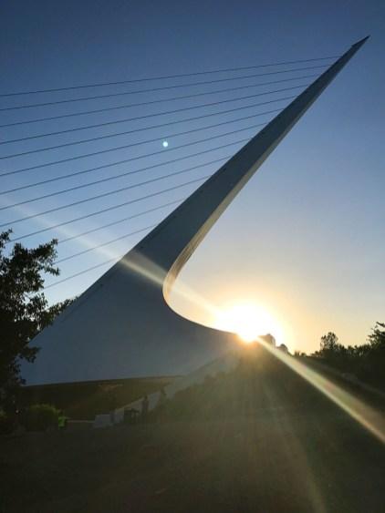 Sunset at the Sundial Bridge in Redding, California