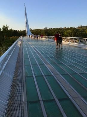 Walking Across the Sundial Bridge