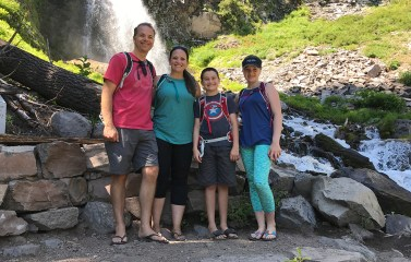 Bourn Family at Plaikni Falls