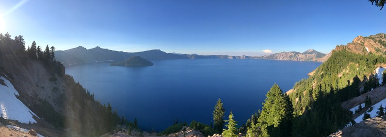 View of Crater Lake at Sunset from the Sinnott Memorial Overlook