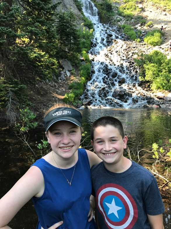 Natalie and Carter Bourn at Vidae Falls