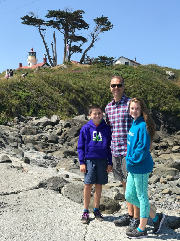 Bourn Family at Battery Point Lighthouse