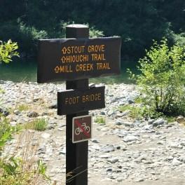 Seasonal Footbridge Trail Sign
