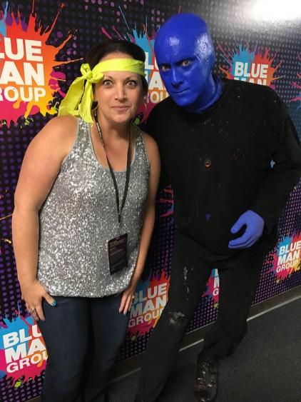 Jennifer Bourn With A Blue Man
