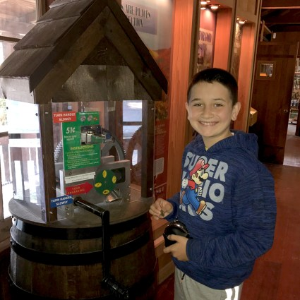 Pairie Creek Redwoods State Park Visitor Center Pressed Penny Machine