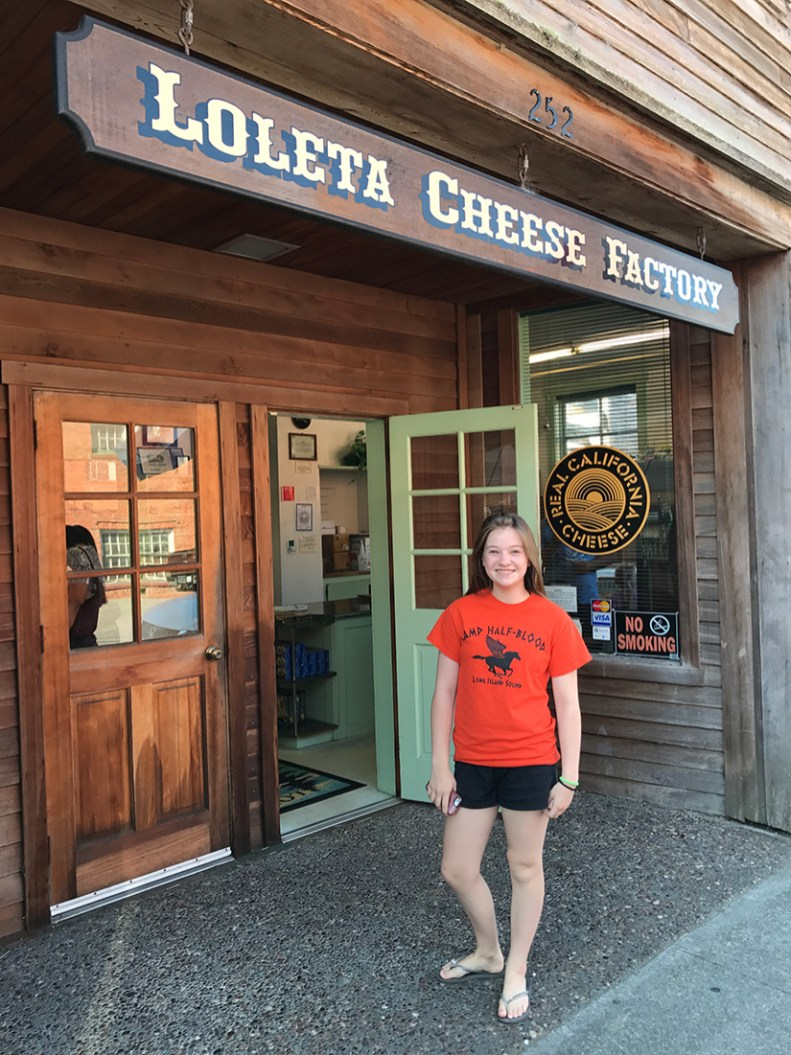 Natalie Bourn at the Loleta Cheese Factory