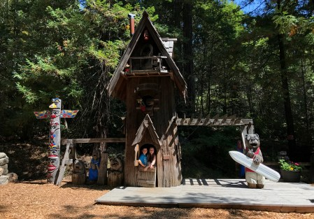 Redwood Tree Playhouse at the Legends of Bigfoot Store