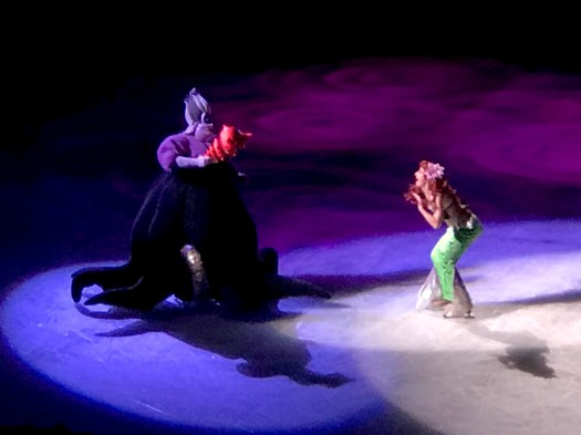 Ariel and Ursula at Disney on Ice in Sacramento