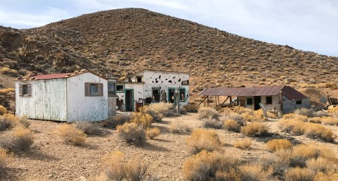 Aguereberry Camp also known as Harrisburg in Death Valley