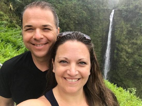 Brian and Jennifer Bourn at Akaka Falls