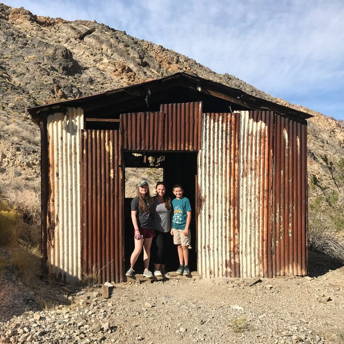 Bourn Family Visiting Leadfield Ghost Town
