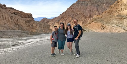 Bourn Family In Mosaic Canyon