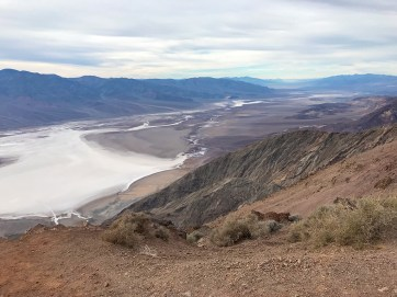 Dante's View of the Death Valley Badwater Basin Salt Flats