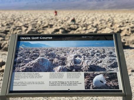Devil's Golf Course Display