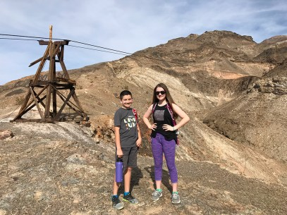 Family Hike At Keane Wonder Mine in Death Valley