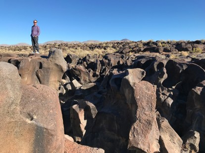 Exploring Fossil Falls, a Dry Waterfall near Death Valley