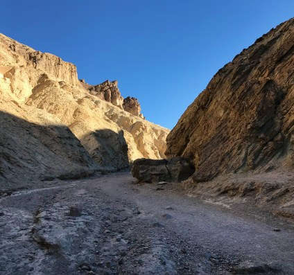 Hiking in the Death Valley National Park Badlands