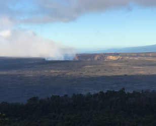 Kilauea Crater View from Volcanoes National Park