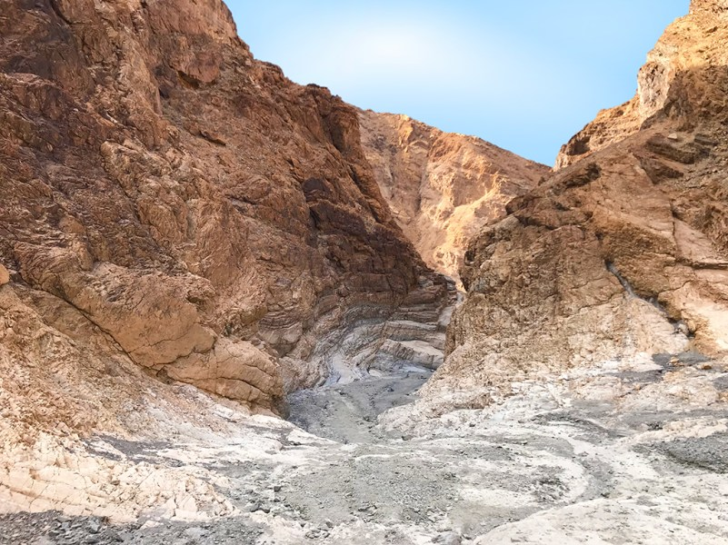 Looking Back Into Exit of Mosaic Canyon