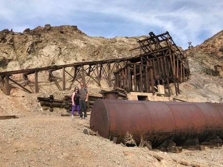 Natalie and Brian Bourn at the Keane Wonder Mine Ruins