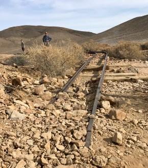 Old Gold Mine Cart Rails