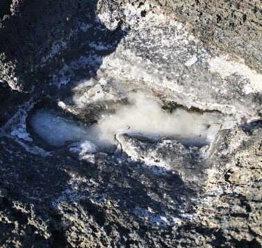 Salt Deposits on Lava Flow