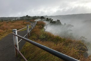 Volcanic Steam Vents on a Rainy Day