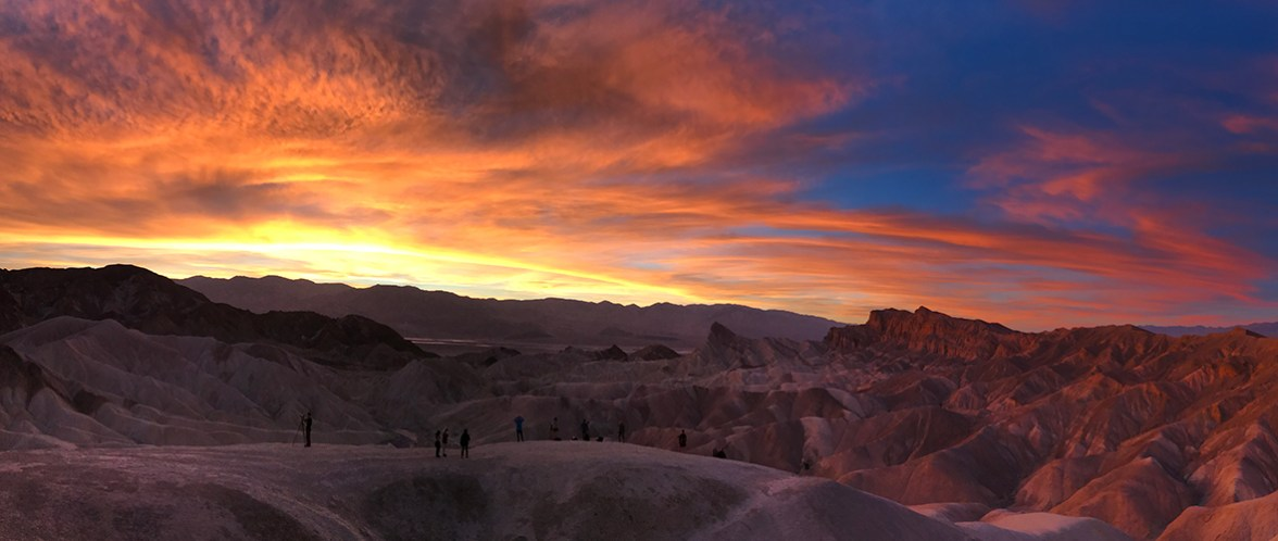 Sunset at Zabriskie Point in Death Valley National Park