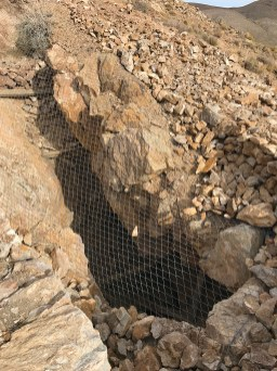 Vertical Mine Shaft Opening at Eureka Mine
