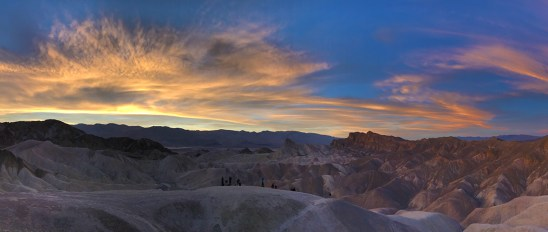 Zabriskie Point Sunset at Death Valley