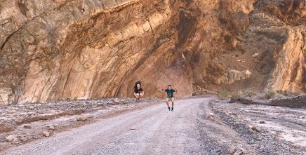 Natalie and Carter Playing in Titus Canyon