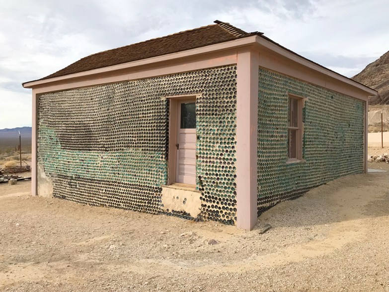 Tom Kelly Bottle House in Rhyolite Historic Townsite