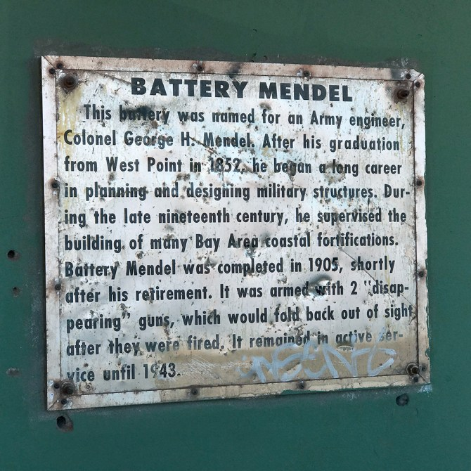 Battery Mendel at Fort Barry in the Marin Headlands
