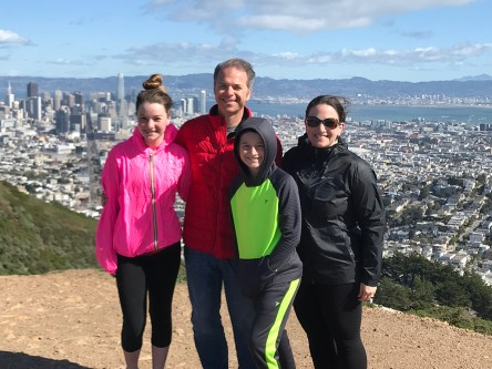 Bourn Family At The Top Of Twin Peaks Natural Area North Peak