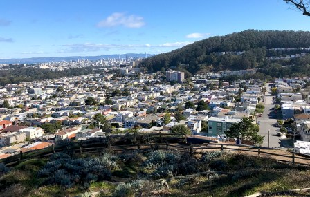 View of Downtown San Francisco from Grand View Park