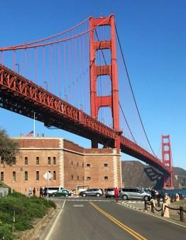 Golden Gate Bridge Behind Fort Point in San Francisco