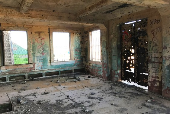 Inside the Abandoned battery Mendell at Fort Barry