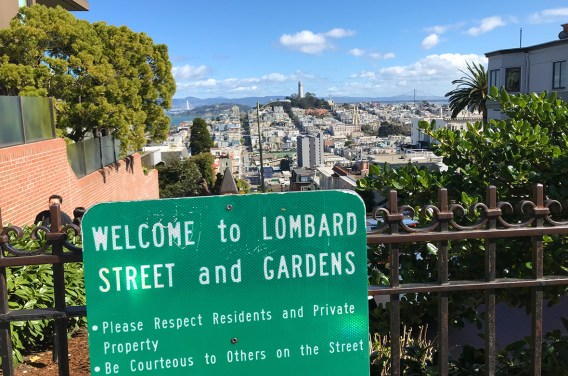 Lombard Street and Gardens